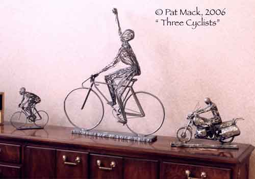 Cyclists steel