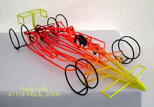 IRL Race Car steel