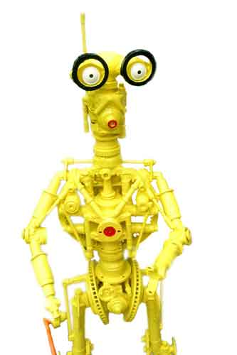 Robot Yellow close up steel