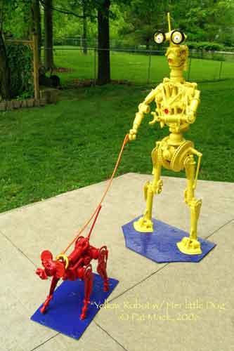 Robot Yellow steel