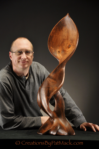 """First Wood Carving In The Touching Peace Series, """"Happiness"""" post image"""